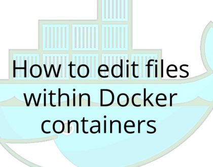 How to edit files within docker containers
