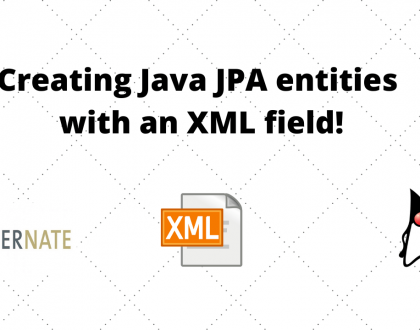 Creating Java JPA entities with an XML field